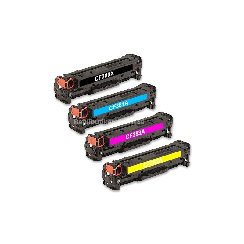 HP CF380X CF383A 4-pack lasertoner set kompatibla