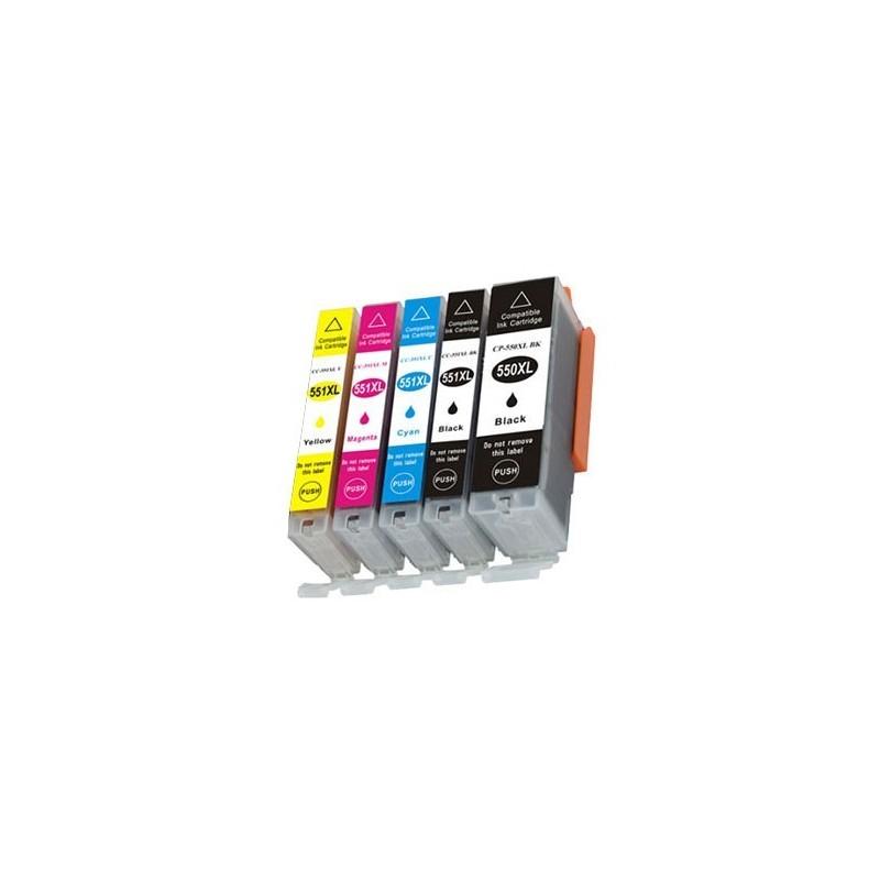 Canon PGI-550PGBK XL / CLI-551XL BK/C/M/Y 5-pack (varumärket Refillbutiken)