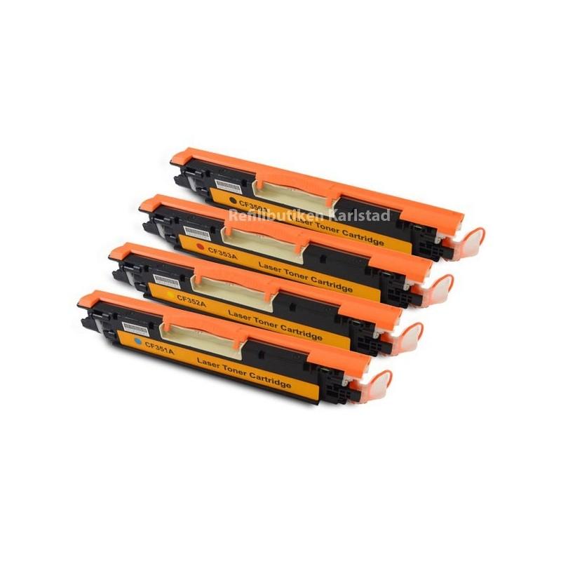HP CF350A-CF353A lasertoner set kompatibla