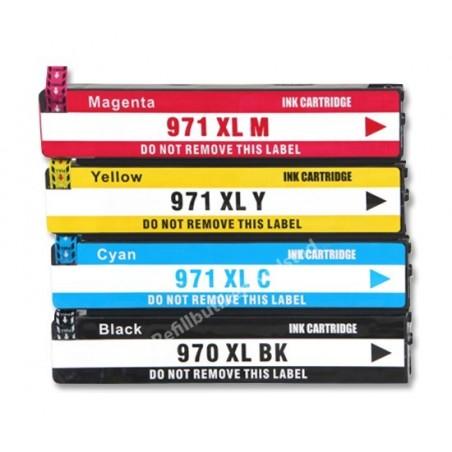 HP 971XL 4-pack bläckpatroner multipack kompatibla