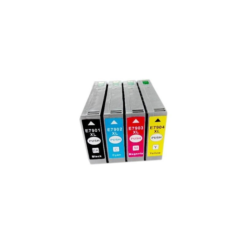 EPSON 79XL 4-pack bläckpatroner multipack kompatibla