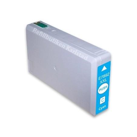 EPSON T7892XXL cyan bläckpatron kompatibel