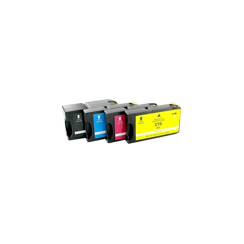 LEXMARK 200XL-210XL bläckpatroner multipack 4-pack kompatibla