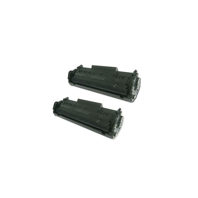HP Q2612A 2-pack svart lasertoner set  kompatibla