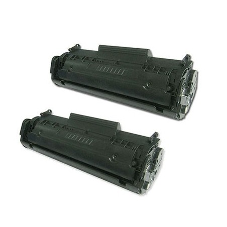 HP Q2612A svart lasertoner set 2-pack kompatibla