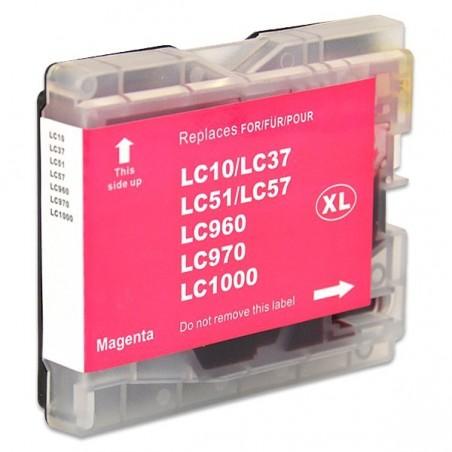 BROTHER LC970 LC1000 magenta bläckpatron kompatibel
