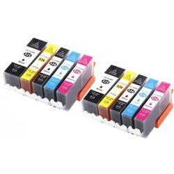CANON PGI525 CLI526 bläck multipack 10 pack kompatibla