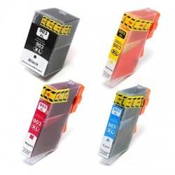 HP 903XL bläckpatroner multipack 4-pack kompatibla