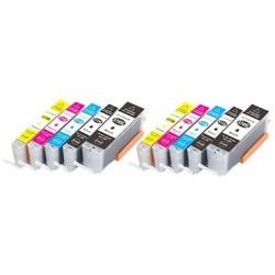 CANON CLI571XL10 pack bläck multipack kompatibla