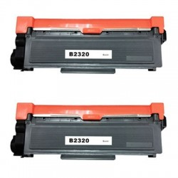 BROTHER TN2320 svart lasertoner set 2-pack kompatibla