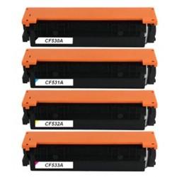 HP CF530A-CF533A lasertoner set kompatibla