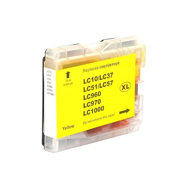 BROTHER LC970-LC1000 gul bläckpatron kompatibel