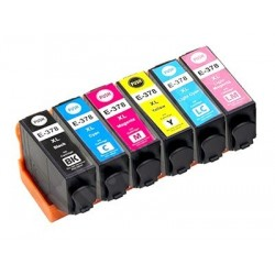 EPSON 378XL 6-pack bläckpatroner multipack kompatibla