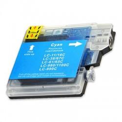 BROTHER LC980 LC985 LC1100C cyan bläckpatron kompatibel