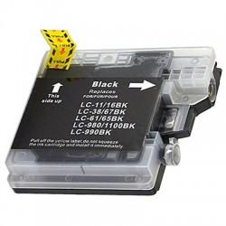 BROTHER LC980 LC985 LC1100 BK svart bläckpatron kompatibel