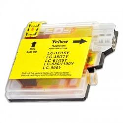 BROTHER LC980 LC985 LC1100Y gul bläckpatron kompatibel