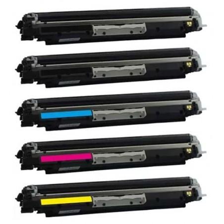 HP CE310A CE313A 5-pack lasertoner set kompatibla