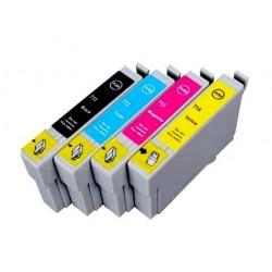EPSON T0715 4-pack bläckpatroner multipack kompatibla