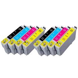 EPSON T0715 8-pack bläckpatroner multipack kompatibla