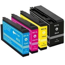 HP 953XL bläckpatroner multipack 4-pack kompatibla