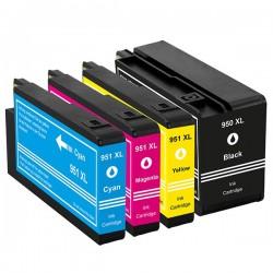 HP 950XL 951XL 4-pack bläckpatroner multipack kompatibla