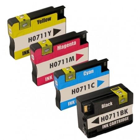 HP 711XL 4-pack bläckpatroner multipack kompatibla
