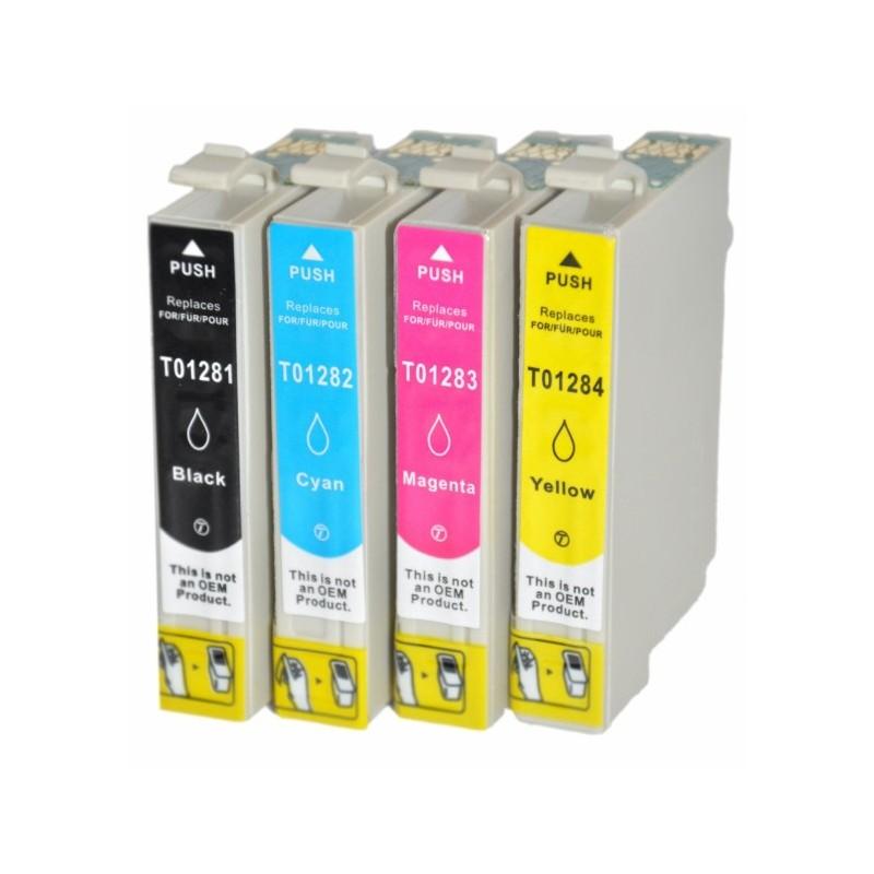 EPSON T1285 4-pack bläckpatroner multipack kompatibla