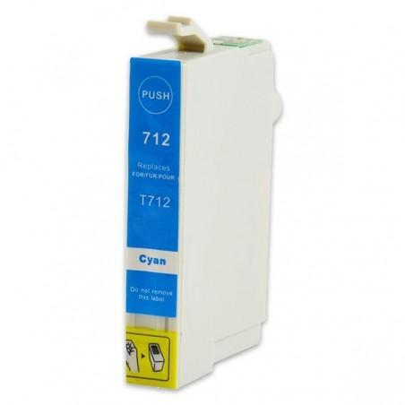 EPSON T0712 cyan bläckpatron kompatibel