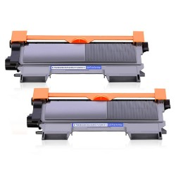 BROTHER TN2220 svart lasertoner set 2-pack kompatibel