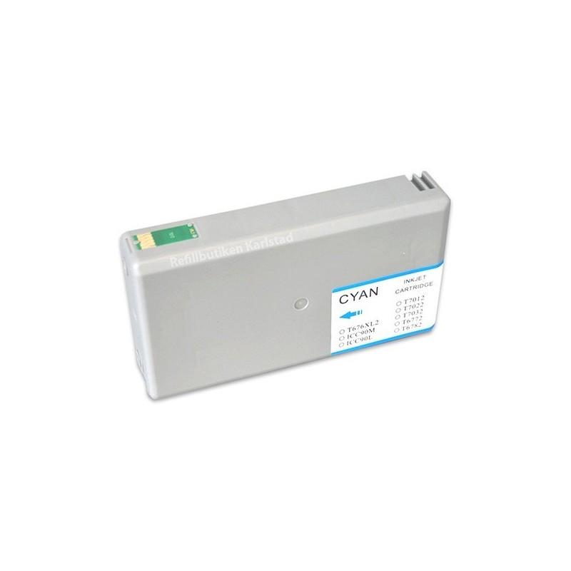 EPSON T7012 cyan bläckpatron kompatibel